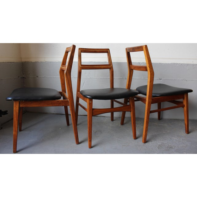 Mid-Century Danish Modern Foster-McDavid Furniture Inc. Chairs - Set of 3 - Image 3 of 11