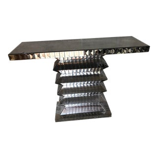 Contemporary Smoked Mirror Console Table For Sale
