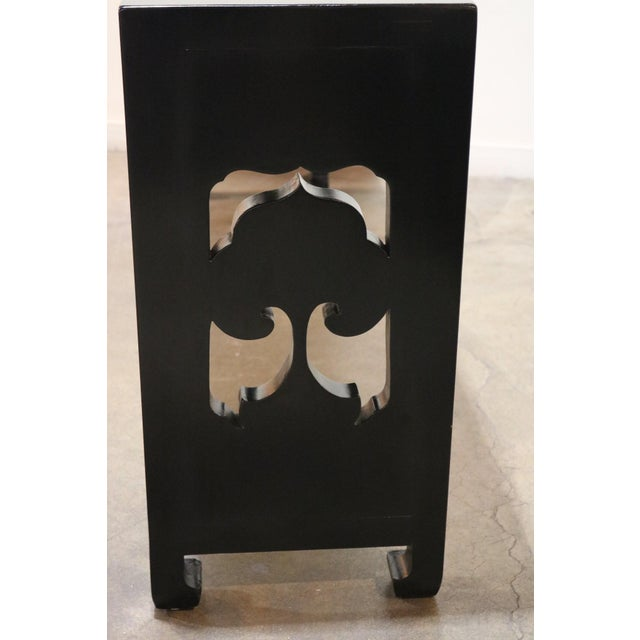 Chinese 19th Century Chinese Black Altar Table For Sale - Image 3 of 8