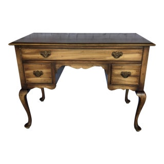 Antique Kindel Queen Anne Writing Desk For Sale