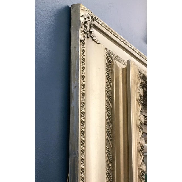 """89"""" High Silver Gilded Beveled Glass Floor Mirror For Sale - Image 10 of 12"""