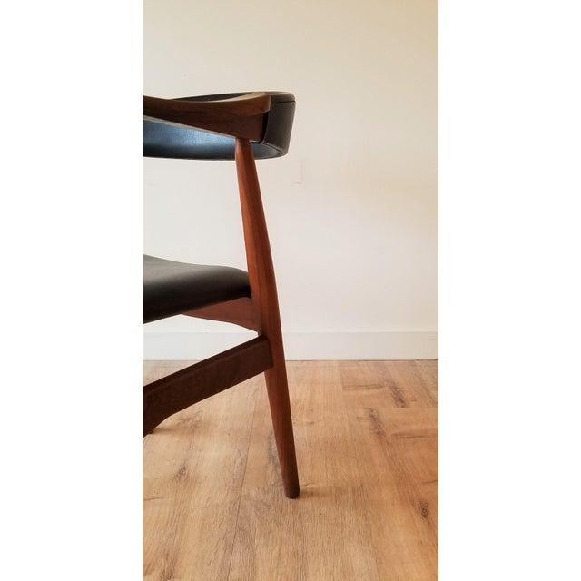 Thomas Harlev Model 213 Side Chair in Teak and Black Leatherette for Farstrup Møbler For Sale - Image 9 of 12