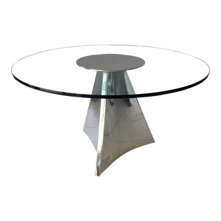 1990s Modern Brueton Pyramid Dining Table For Sale