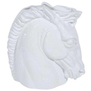 1960's Hollywood Regency Ceramic Horse Sculptural Vase, Italy For Sale