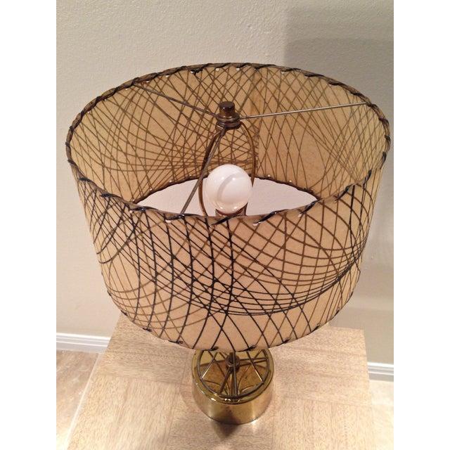 Atomic Era Brass Table Lamp - Image 5 of 6