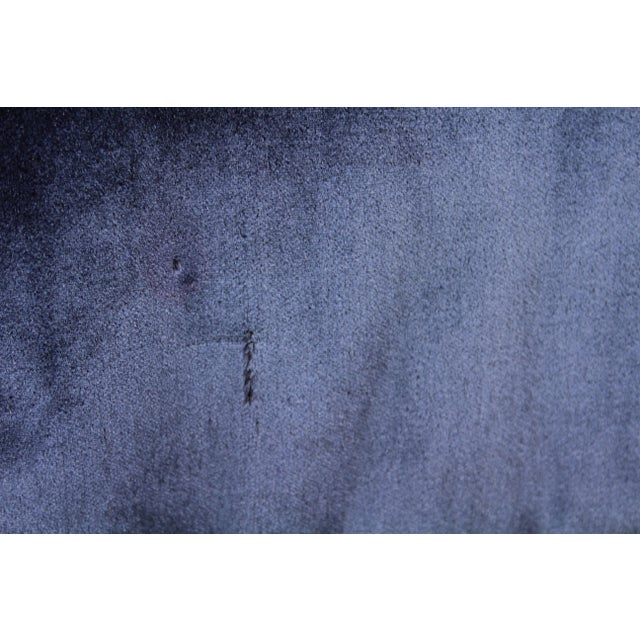 Mohair 1960s Art Deco Blue Mohair Velvet Armchairs - a Pair For Sale - Image 7 of 13