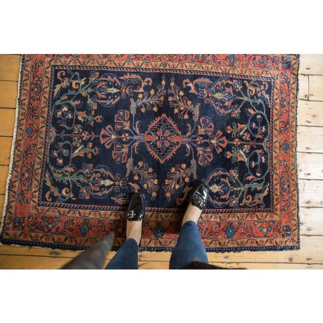 "Islamic Vintage Lilihan Square Rug - 3'7"" X 4'8"" For Sale - Image 3 of 14"