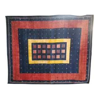 Late 20th Century Qashqai Persian Rug-6′10″ × 8′6″ For Sale