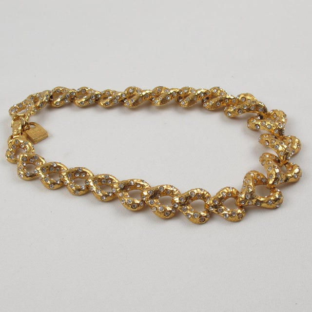 French Designer Alexis Lahellec Paris Signed Jeweled Choker Necklace For Sale - Image 4 of 8