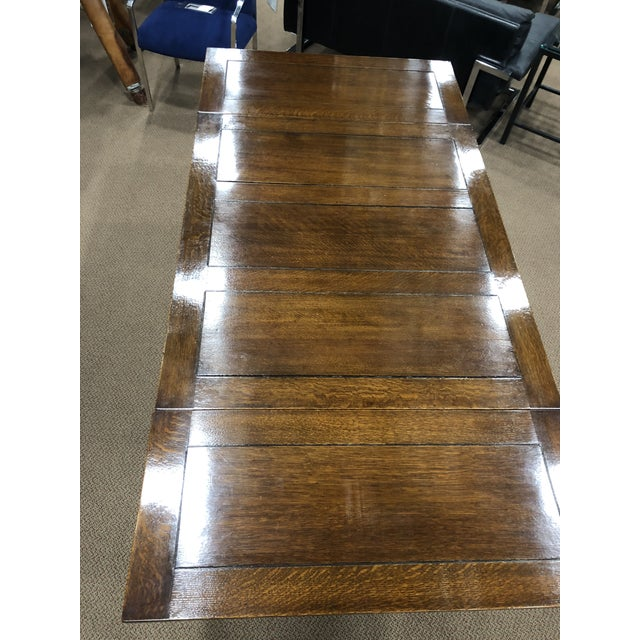 Dutch Oak Refectory Table With Large Barley Twist Legs For Sale - Image 12 of 12