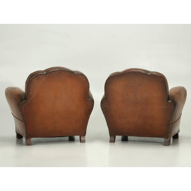 French Art Deco Original Cloud Back Style Club Chairs in Incredible Condition For Sale - Image 9 of 10