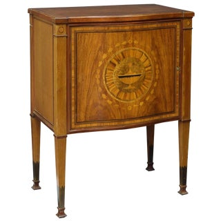 English Marquetry Inlaid Mahogany Sideboard Chest For Sale