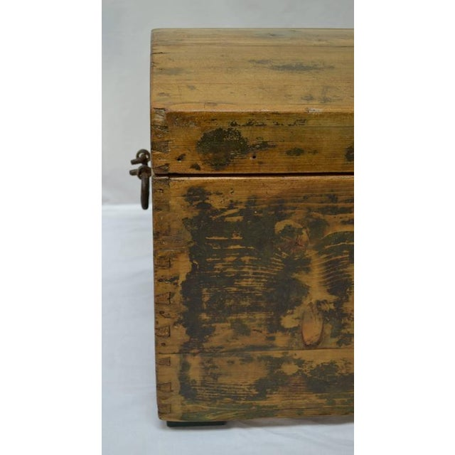Pine Painted Dome-Top Trunk For Sale - Image 4 of 10