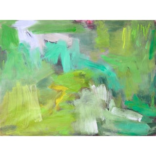 """""""Green Zen"""" by Trixie Pitts Abstract Expressionist Oil Painting For Sale"""