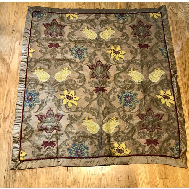 2010s Clarence House Silk Throw For Sale - Image 5 of 8
