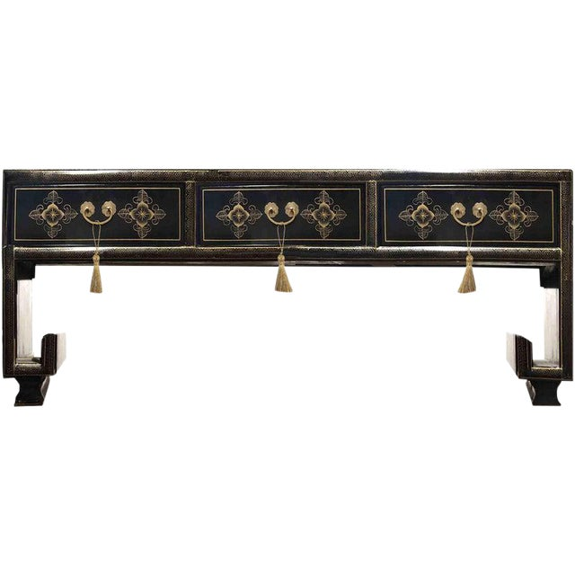 Vintage Chinoiserie Ming Lacquered Kang Coffee Table For Sale