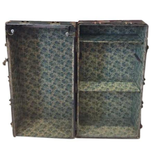 Vintage Steamer Trunk Bookcase Chest - Image 4 of 8
