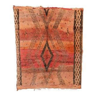 """Beni M'Guild Vintage Moroccan Rug, 5'0"""" X 5'10"""" For Sale"""