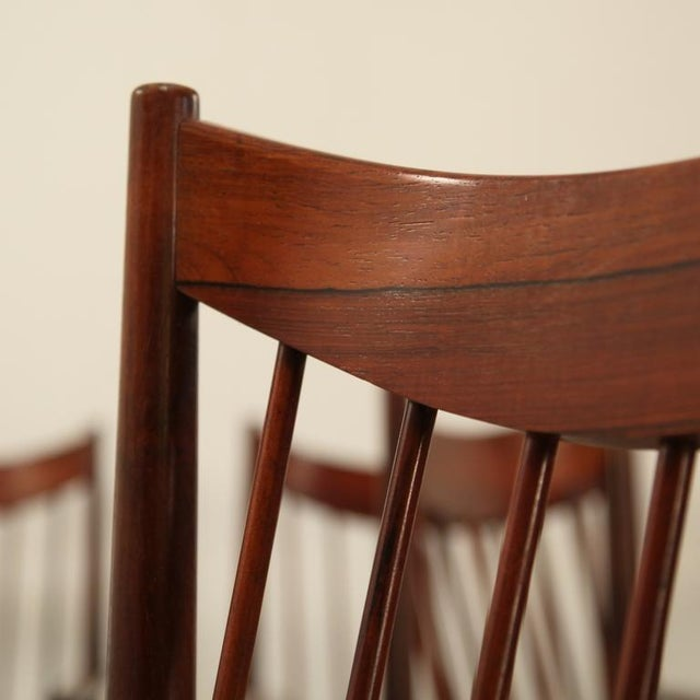 Arne Vodder set of 6 highback armchairs in rosewood, Denmark, 1960s - Image 4 of 7