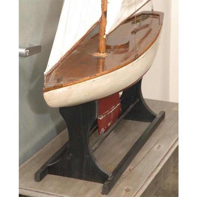Folk Art Large American Pond Boat For Sale - Image 3 of 8