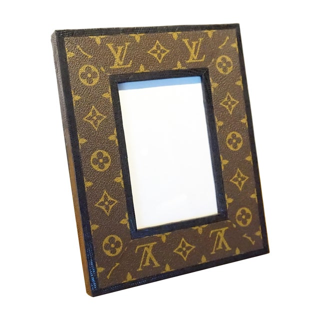 Louis Vuitton Leather Photo Frame For Sale