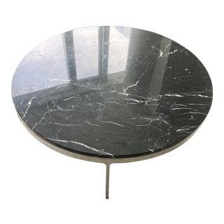 1960s Nicos Zographos Circular Marble Coffee Table For Sale
