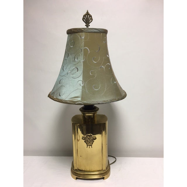Vintage ethan allen brass table lamp image 10 of 10