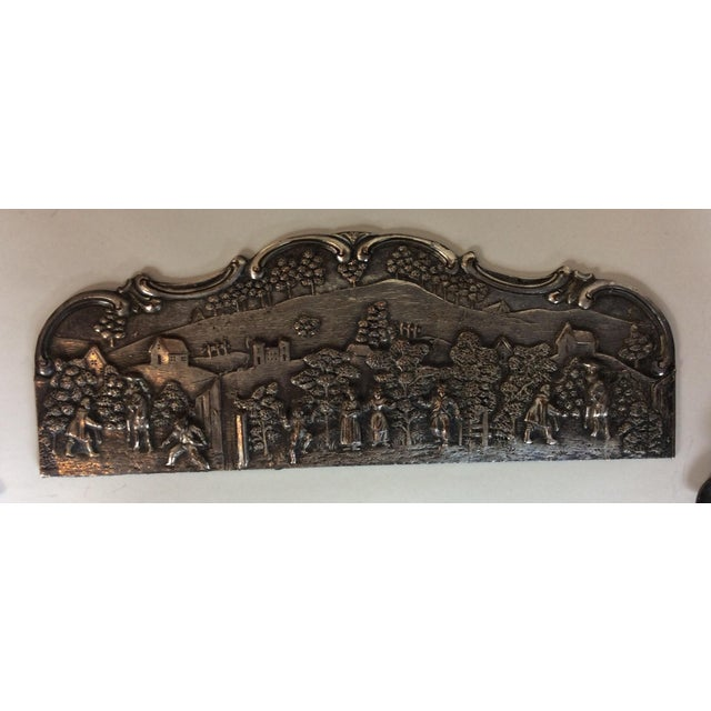 Traditional Antique Silver Plated Calendar Desk Set - 9 Pieces For Sale - Image 3 of 10
