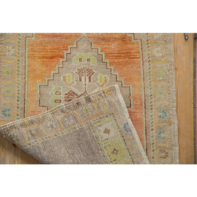 """Shabby Chic Vintage Distressed Oushak Rug - 1'10"""" X 3'4"""" For Sale - Image 3 of 7"""