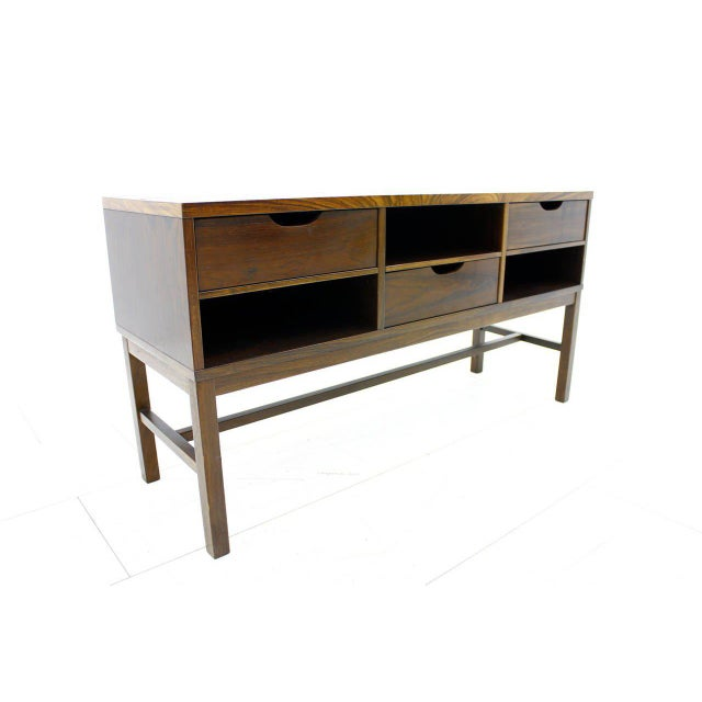1960s Severin Hansen Cabinet, Console With Ceramic Top, Haslev Denmark For Sale - Image 5 of 11