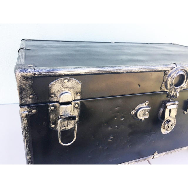 Upcycled WWII Trunk on Wheels For Sale - Image 4 of 9