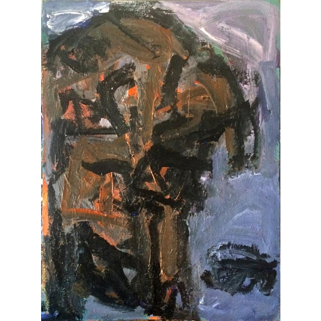 Abstract Dog Painting by David Derish For Sale - Image 3 of 3