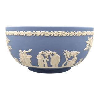 1960s English Wedgwood Jasperware Blue and White Bowl For Sale