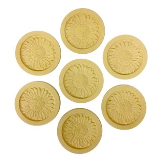 Natural Stone Coasters - Set of 7 For Sale