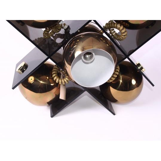 Mid Century Modern Five Light Fixture For Sale - Image 4 of 11