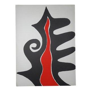 Vintage Mid 20th Century Lithograph-Alexander Calder-Derriere Le Miroir No. 201-1973 For Sale