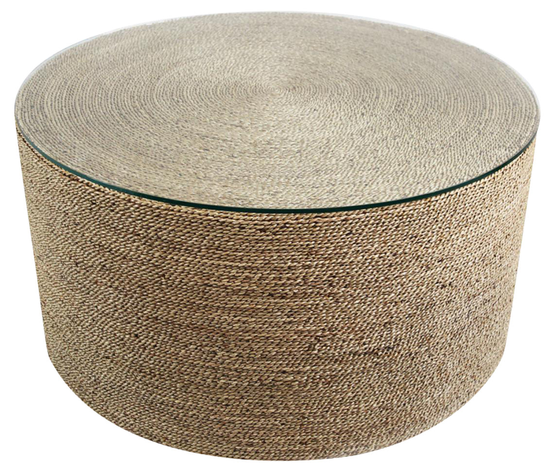 Round Seagrass Rope Coffee Table Chairish