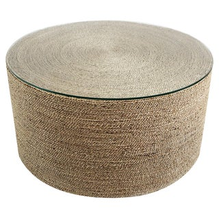Round Seagrass Rope Coffee Table For Sale