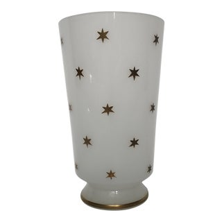 Vintage Gold Star Glass Vase
