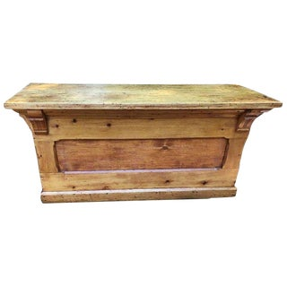 20th Century Industrial Candy Store Wood Counter For Sale