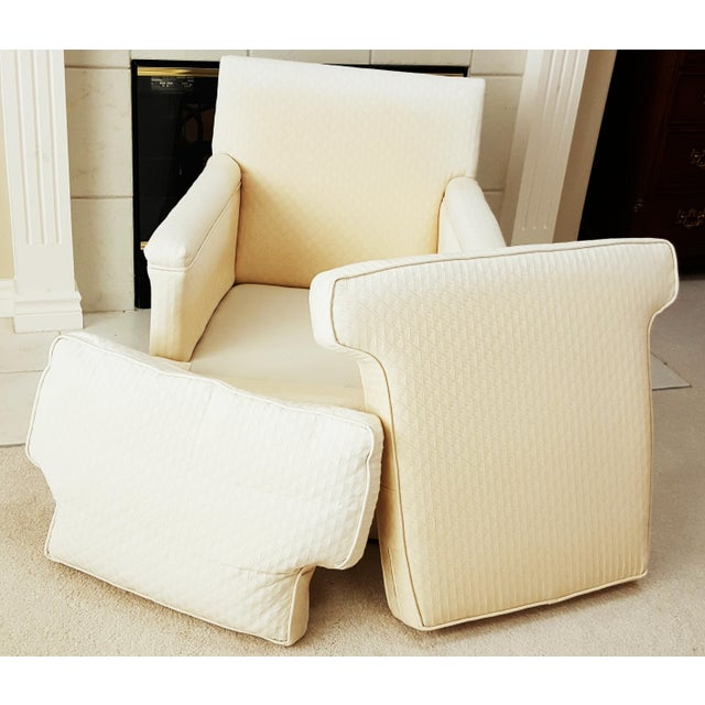 Mid-Century Modern Tailored Cushion Arm Chair - Image 8 of 9