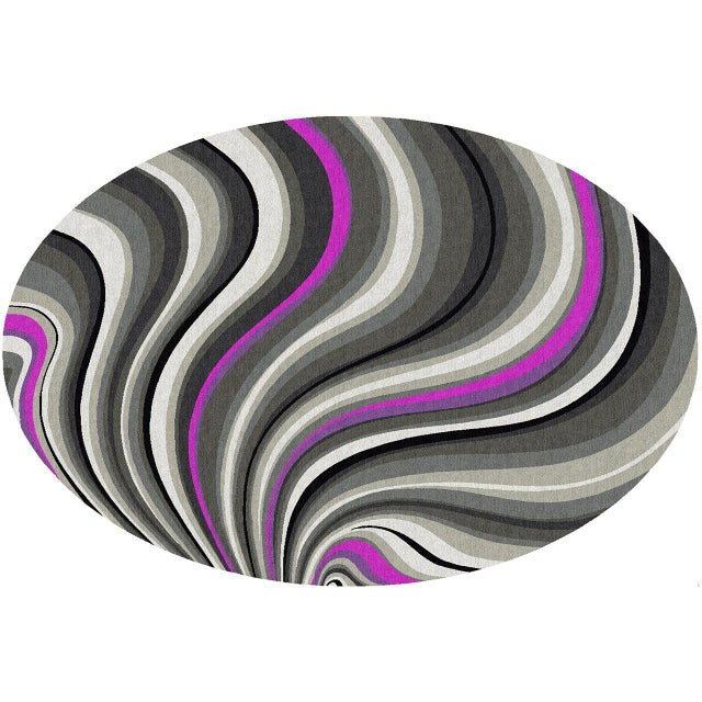 "Contemporary ""Kensington Wave"" Rug For Sale - Image 3 of 3"