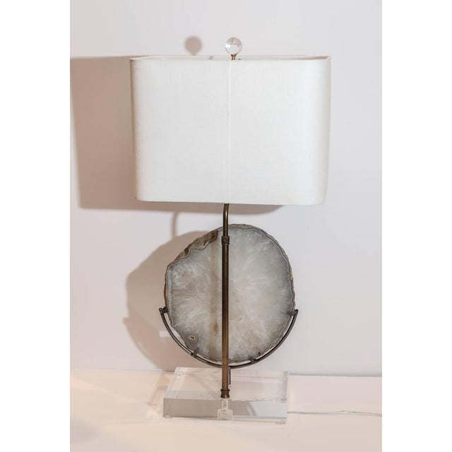 Agate Lamp For Sale - Image 4 of 5