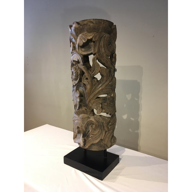 1990s Floral Totem Sculpture For Sale In Chicago - Image 6 of 8