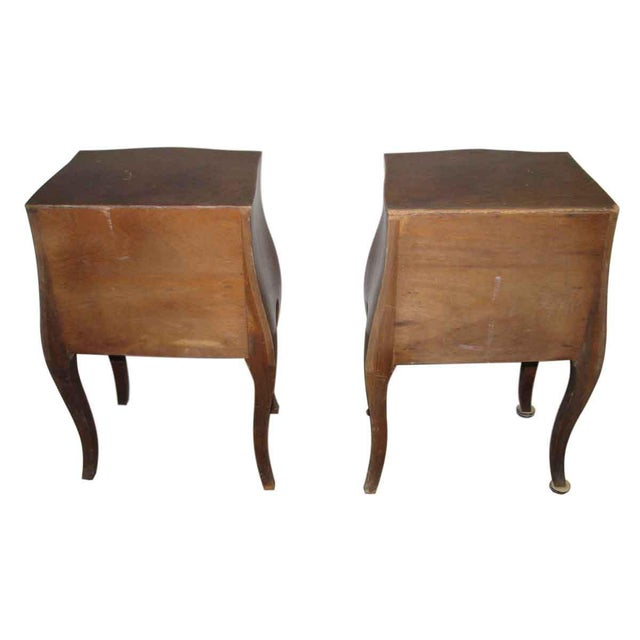Brown Empire Bed Side Tables - A Pair For Sale - Image 8 of 9