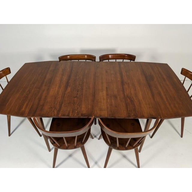 Brown Mid Century Modern Paul McCobb Solid Maple Drop Leaf Dining Set - 7 Pieces For Sale - Image 8 of 13
