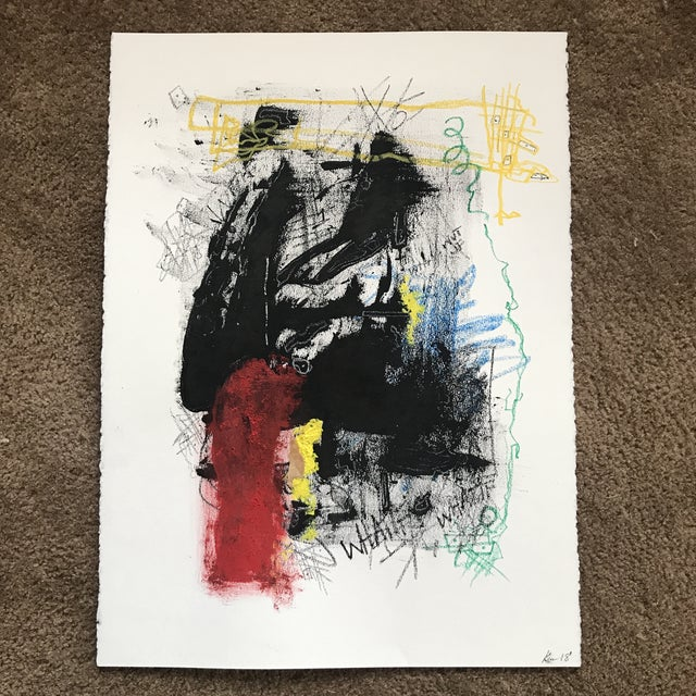 Walking Man Abstract Painting For Sale - Image 12 of 12