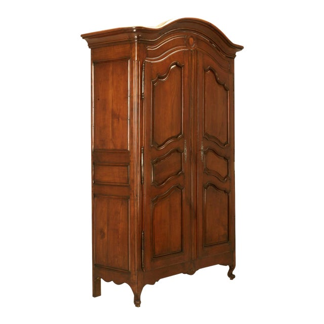 Circa 1800s French Louis XV Style Cherry Wood Armoire - Image 1 of 10