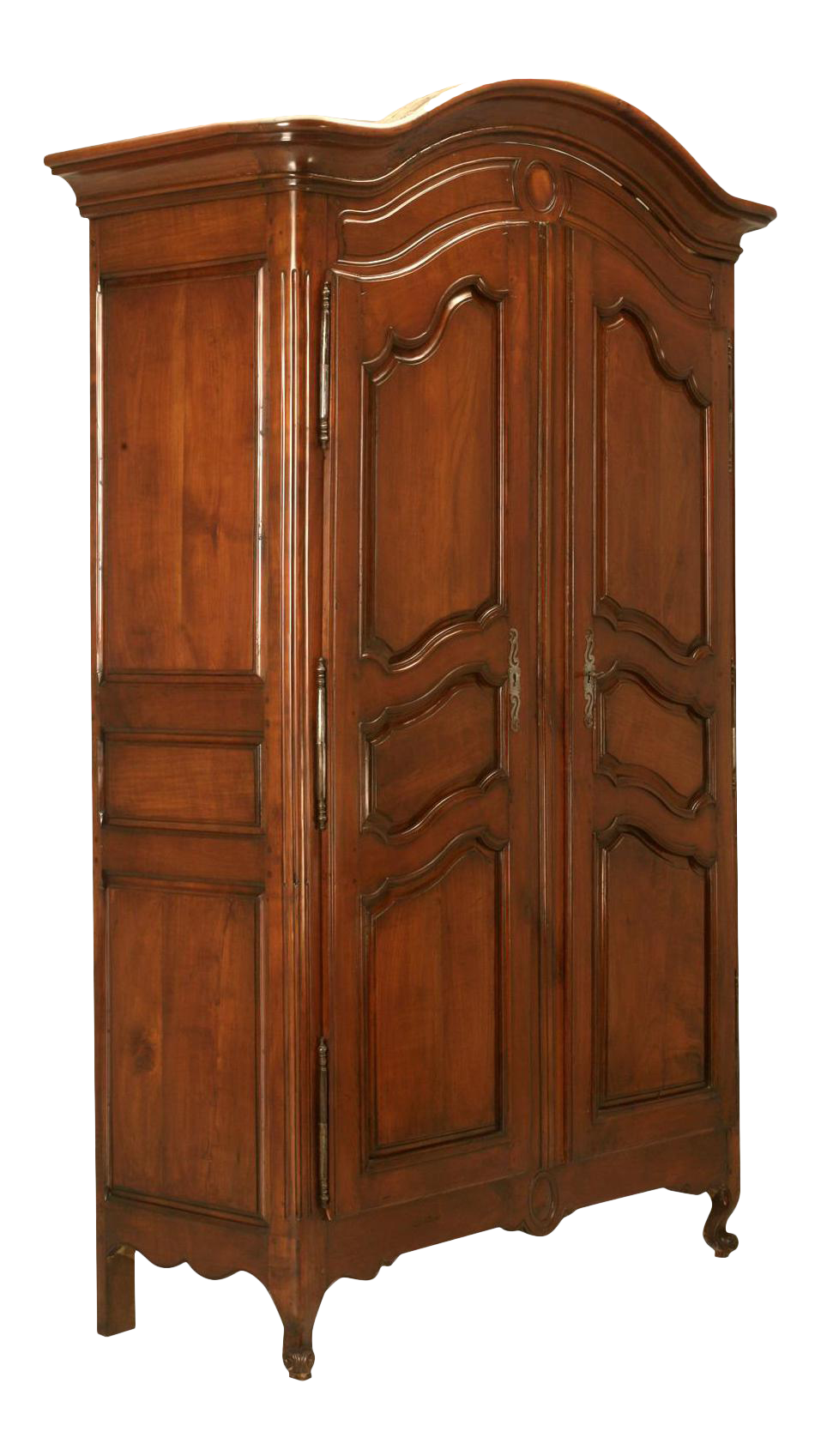 Circa 1800s French Louis XV Style Cherry Wood Armoire