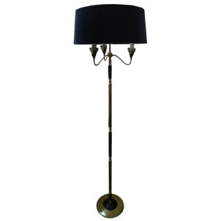 Mid-Century French Brass Floor Lamp For Sale